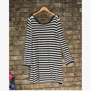Free People Dresses - Free people striped swing sweater tunic dress